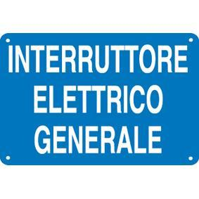 CARTELLO INTERRUT. ELETTR. GENERALE