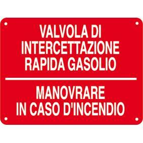CARTELLO VALV. INTERCETTAZ. GASOLIO