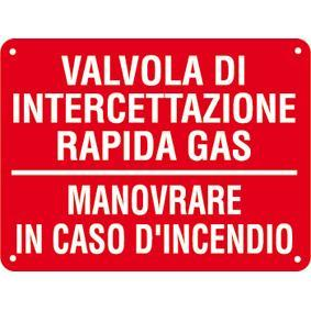 CARTELLO VALV. INTERCETTAZ. GAS