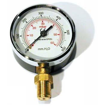 "MANOMETRO GAS 0-1000mmH2O d. 80 3/8"" RAD"