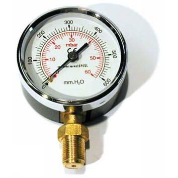"MANOMETRO GAS 0-600mmH2O d. 100 1/2"" RAD"